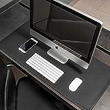 Mouse Pad Desk Pad Max XL Couro Ecologico 90x40cm Design Minimalista (Black)