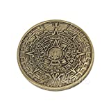 STAR-FIVE-STORE - SAE Fortion Mayan Prophecy Coin Sunshine Pyramid Aztec Maya Calendar Bronze Coin JNB8192