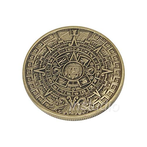 STAR-FIVE-STORE - SAE Fortion Mayan Prophecy Coin Sunshine Pyramid Aztec Maya Calendar Bronze Coin JNB8192 by STAR★FIVE★STORE