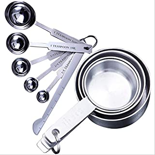 YUYOU Stainless Steel Measuring Cups and Spoons, Measuring Set