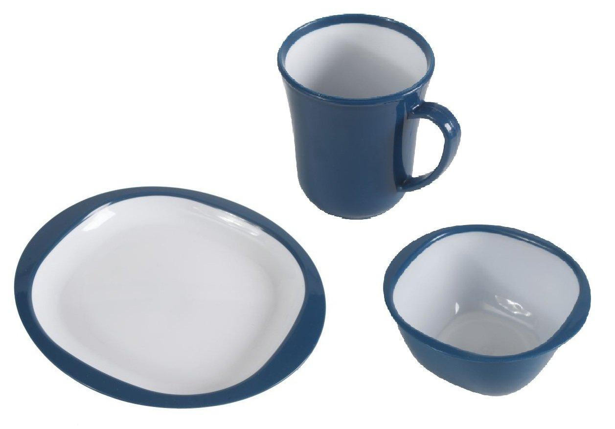 Camping / Picnic Dinner Set (Blue) Kampa
