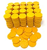 Tio Chente Set of 420 Plastic Poker Bingo Counting Chips Markers for Games (Yellow)