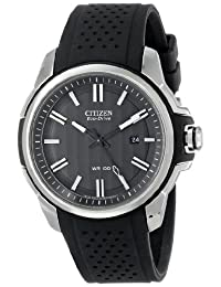 Citizen Men's AW1150-07E AR 2.0 Eco-Drive Stainless Steel Black Dial Watch