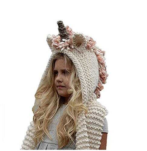 knitted scarf with hood - 4