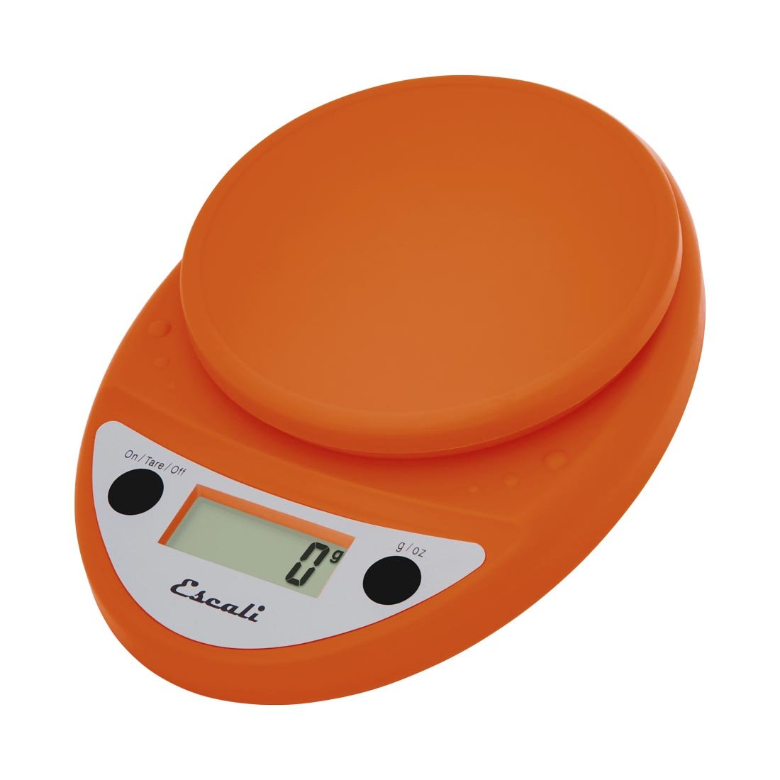 Escali Primo Digital Kitchen Scale (11 lb/ 5 kg Capacity) (0.05 oz/ 1 g Increment) Premium Food Scale for Baking and Cooking - Lightweight and Durable Design - Lifetime ltd. Warranty - Pumpkin Orange