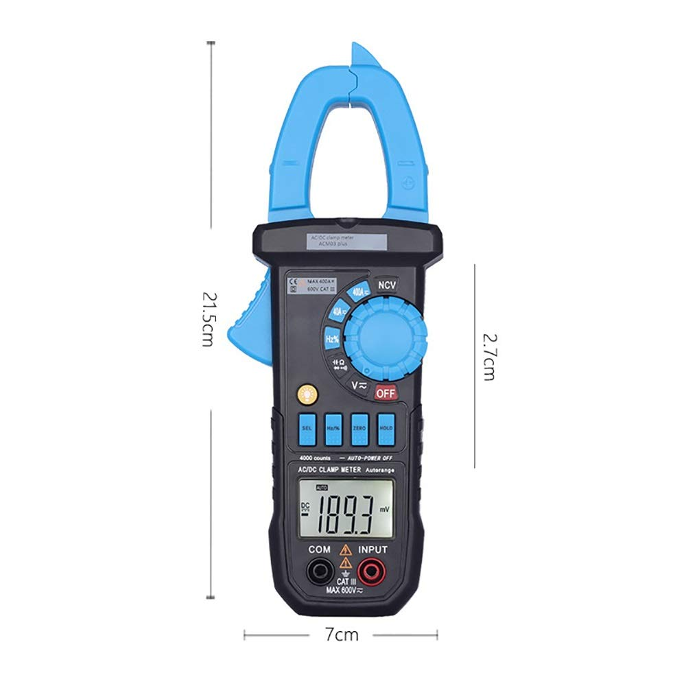 ZITENGZHAI-multimeter Professional Digital Multimeter 400A AC//DC Current Clamp Meter ACM03 Plus Capacitance Frequency Tester Induction Voltage Alarm