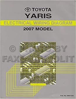 2007 Toyota Yaris Wiring Diagram Manual Original: Toyota: Amazon.com: Books | 2007 Yaris Stereo Wiring Diagram |  | Amazon.com