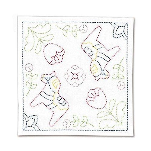 Japanese Sashiko Traditional Embroidery / Needlework / Cross Stitch Kit - Made in Japan, Pattern : Dalecarlian - Cross Bread Cloth Stitch Patterns
