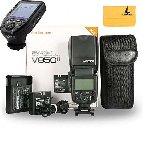 Godox V850II GN60 2.4G 1/8000s HSS Camera Flash Speedlight with 2000mAh Li-ion Battery Features 1.5s Recycle Time and 650 Full Power Pops for Sony,Godox XPro-S Flash Trigger for Sony Cameras
