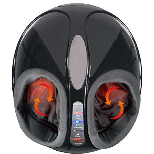 Electronic Shiatsu Foot Massager, SOTION Deep Kneading Rolling Vibration Feet Massagers with Heat and Air Pressure for Home and Office Use Full Foot Coverage From Ankle to Toe.