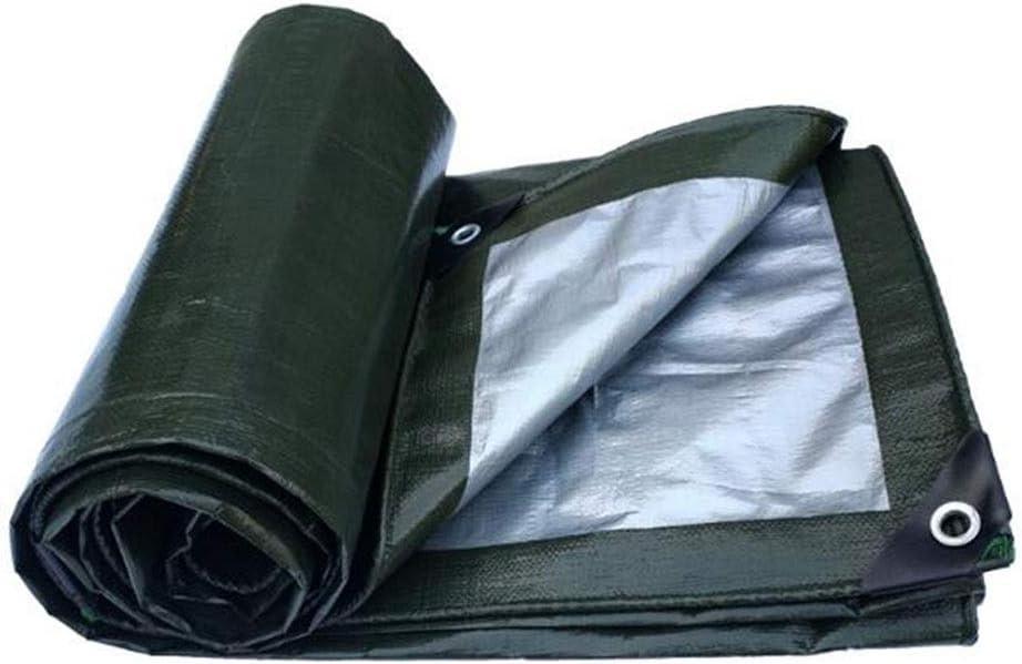 DALL 防水シートの二重防水防水シート補強屋外キャンプシェードカバー180G /M²、厚さ0.35mm (Color : 緑, Size : 10×15m) 緑 10×15m