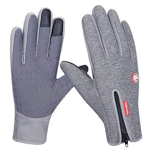 Mens Womens Black Gripper Half Finger Thermal Stretch Magic Driving Gloves