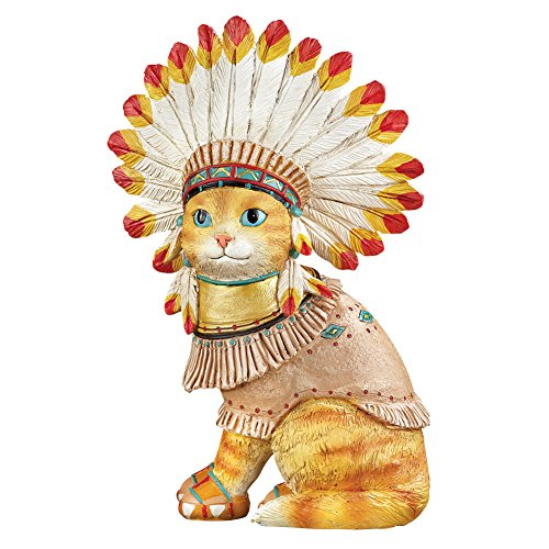 Collections Etc Native American Pet Southwest Garden Statues Décor, Cat