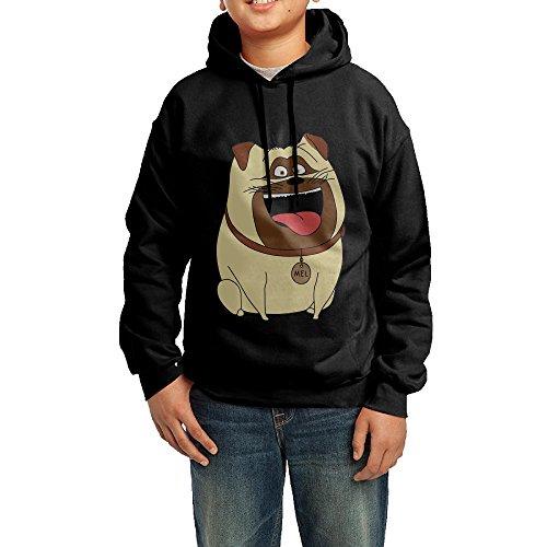 Price comparison product image GGDD Boys & Girls The Secret Life Of Pets Dog Visor Funny Hoodie Sweatshirt Leisure Style L Black