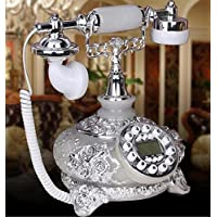 XUEXIN Antique Phone-Corded Retro Phone-Corded Old Fashion Antique Landline Telephone with Push Button Technology