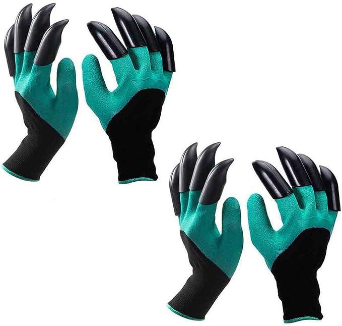 Guantes de jardin Mano izquierda y la derecha (2 pares 8 garras) , Eiito guantes de jardinería con garras de excavación para el jardín y tareas del hogar: Amazon.es: Bricolaje y herramientas