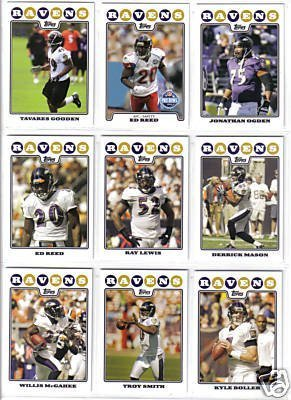 Baltimore Ravens Football Cards - 4 Years Of Topps Complete Team Sets 2005,2006,2007, 2008 - Includes Stars like Ray Lewis, Rookies & More - Individually Packaged!