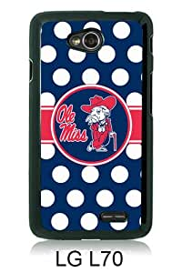 Southeastern Conference SEC Football Ole Miss Rebels 01 Black LG L70 Screen Cover Case Unique and Fashion Design