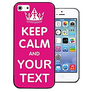 DUR Personalized Gift Signature Keep Calm Style Back Case Case for iPhone 5/5S (Assorted Colors) , Line 1