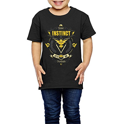 Price comparison product image 2-6 Toddler Little Girl's Lets Go! Team Instinct Cute Short-sleeve Tee Black