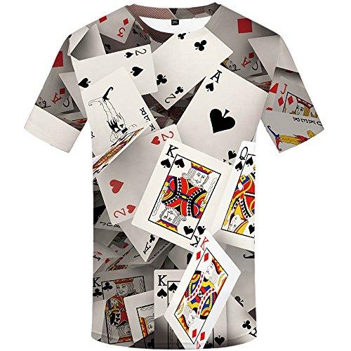 (KYKU Funny Poker T Shirt Unisex Casual 3D Print Short Sleeve T-Shirt Tees)
