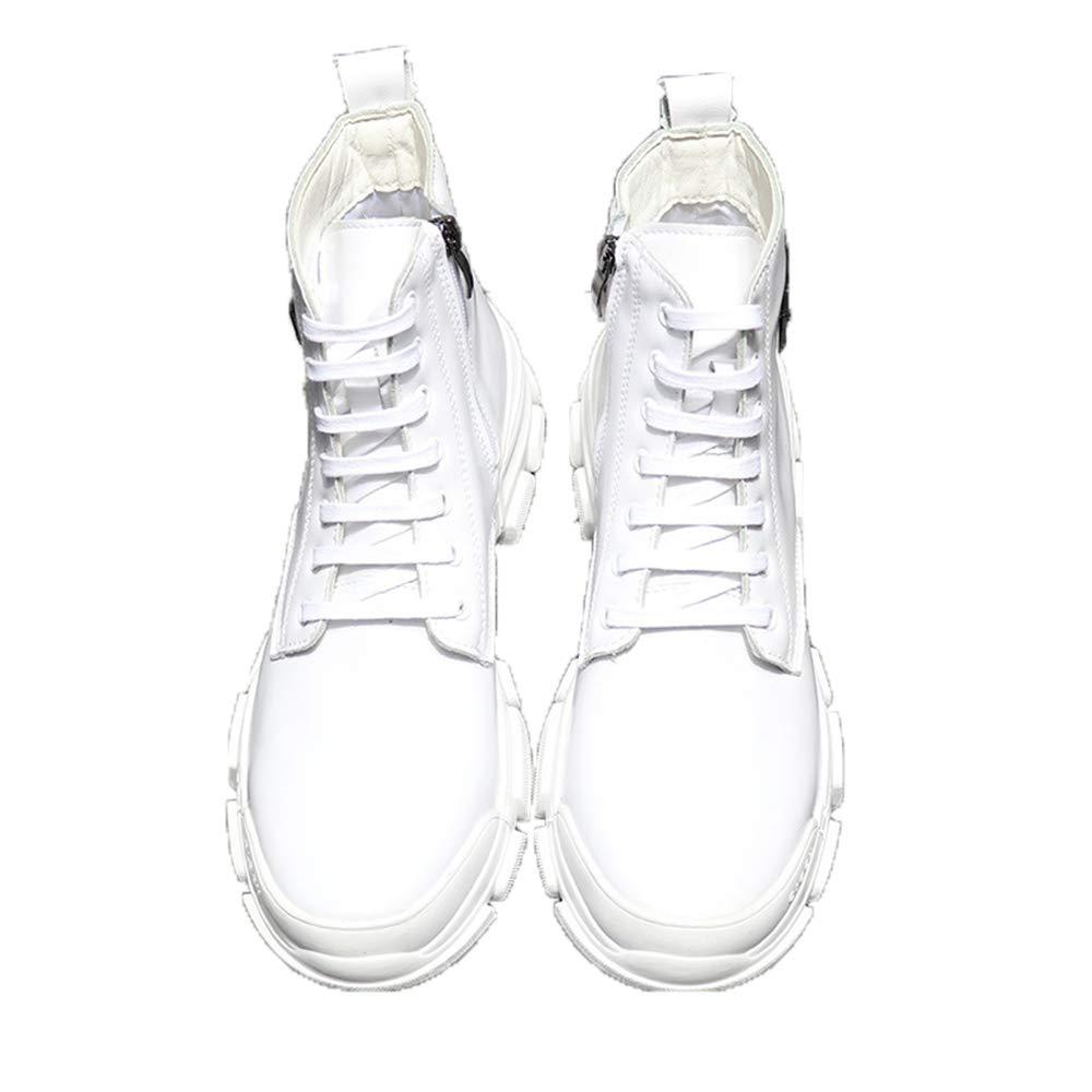 ZHRUI Mens Casual Klassische Chukka Stiefel schnüren Sich weiche Sohle Durable Ankle Stiefel (Farbe   Weiß, Größe   EU 42)