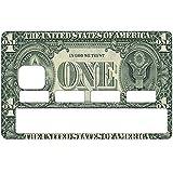 Stickers CB, decoratif, pour carte bancaire, ONE DOLLAR - crée par le DgedeNice - autocollant de haute qualité, création & fabrication Française
