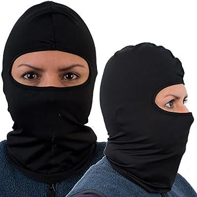 Balaclava Ski Mask (2 Pack), Motorcycle Premium Face Mask, Black-1 Pack avail.