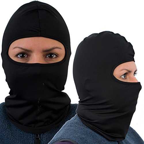 Balaclava (2 PACK) Black - Multi functional face mask And tactical ski mask