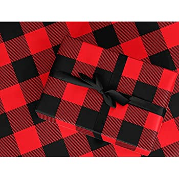 Amazon Com Lumberjack Gift Wrap Red Buffalo Plaid For Christmas Wrapping 24 Quot X 20 Ft Roll
