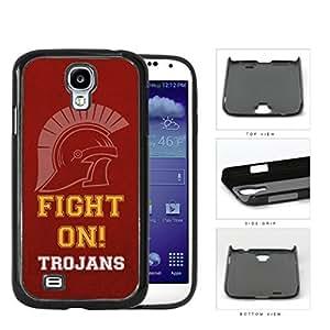 Fight On Trojans School Spirit Slogan Chant Samsung Galaxy S4 I9500 Hard Snap on Plastic Cell Phone Cover