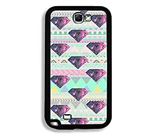 Geometric Pattern Galaxy Diamond Thinshell Case Protective Note 2 Case