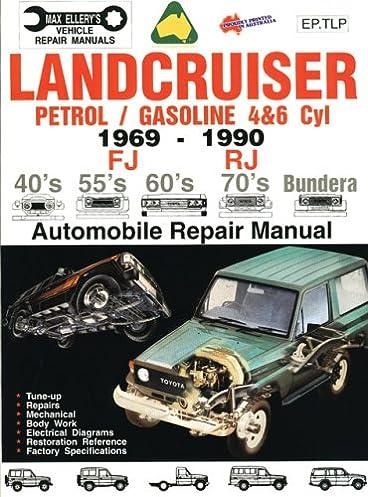 landcruiser petrol gasoline 4 6 cyl 1969 90 auto repair manual rh amazon com 2016 Toyota Corolla Manual Toyota Manual Interior