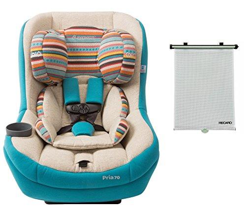 Maxi-cosi Pria 70 Convertible Car Seat in Bohemian Blue with BONUS Retractable Window Sun Shade