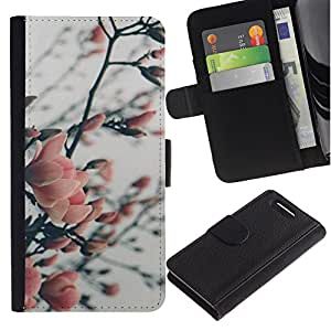 All Phone Most Case / Oferta Especial Cáscara Funda de cuero Monedero Cubierta de proteccion Caso / Wallet Case for Sony Xperia Z1 Compact D5503 // Tree Blossoming Garden Park
