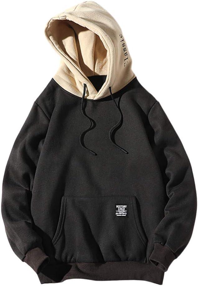 ZAFUL Herren Kapuzen Sweatshirt mit Aufschrift und Känguru