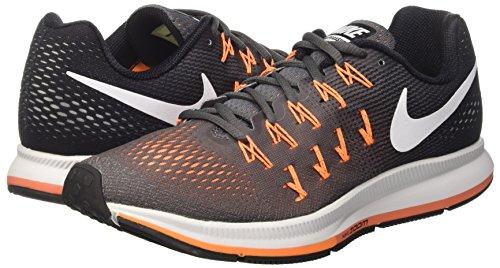 Nike Air Zoom Pegasus 33, Zapatillas de Running Para Hombre Gris (Dark Grey/White-Black-Bright Citrus)