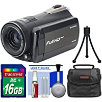 Bell & Howell Rogue DNV24HDZ 1080p HD Video Camera Camcorder with Infrared Night Vision with 16GB Card + Case + Tripod + Kit