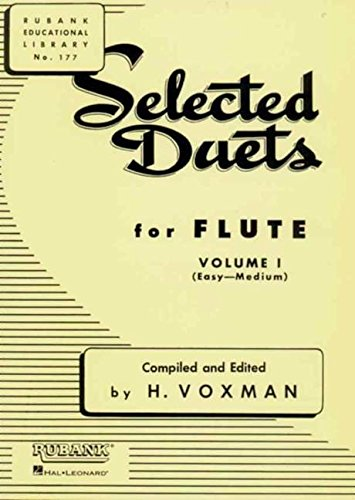 Selected Duets for Flute: Volume 1 - Easy to Medium (Rubank Educational Library) - Duets Flute