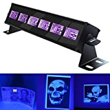 UV LED Bar Black Lights with 3W x 6 LEDs UV Bar for Parties Halloween Club Metal Housing(EU Plug)