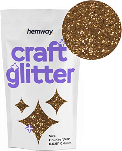 Hemway Craft Glitter 100g 3.5oz Chunky 1/40