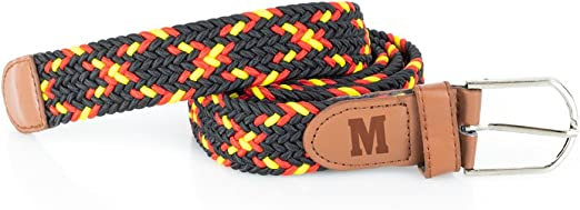 Regalo Original Cinturón elástico trenzado España para hombre grabado con tu inicial: Amazon.es: Ropa y accesorios