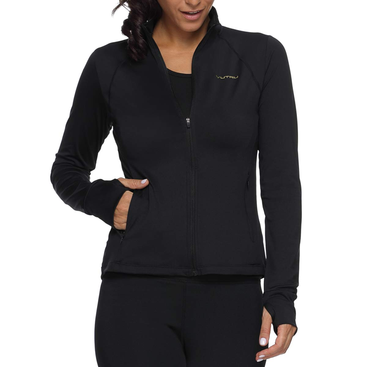 Vutru Women's Active Running Track Jacket Full-Zip Sweatshirt Yoga Workout Jacket