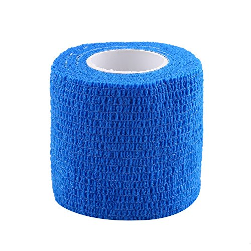 Lot de Bandages Sport Auto-adhésif Bandes Elastiques Médical Ruban de Soin Premiers Secours Cohésif pour Sports de Plein Air ( Set de 5 Rouleaux )