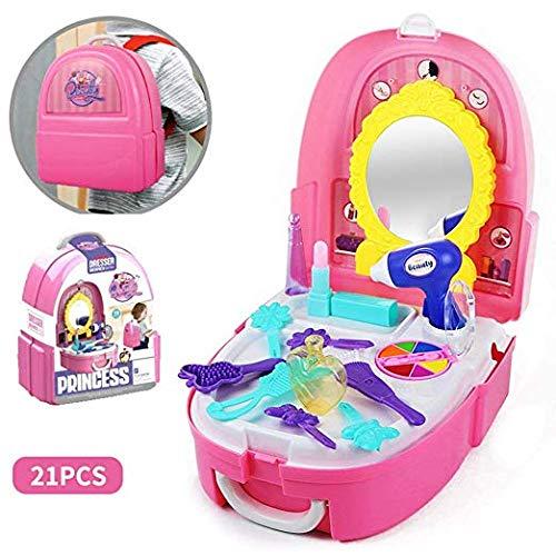 WenToyce Pretend Play Make up Kit Little Girls Dress-up Fake Cosmetic Set with Storage Backpack Box 20 Pcs Kids Beauty Salon by WenToyce
