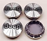black jeep center caps - Gosweet 4X Brand NEW Set For Jeep Aluminium Silver Brushed Wheel Center Hub Caps Emblem 55mm 1992-2008 Jeep Grand Cherokee 1997-2008 Jeep Wrangler 2002-2007 Liberty 2006-2010 Commander US Shipment
