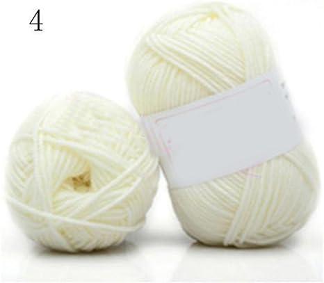 globaldeal 2 unidades madejas hilo algodón Crochet de bambú suave hecha a mano ovillo de lana para Kid – 42 #: Amazon.es: Juguetes y juegos