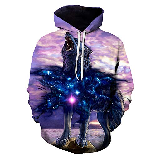 3D Printed Hooded Top Men Fashion New Sanitary Clothes Long Sleeved ()