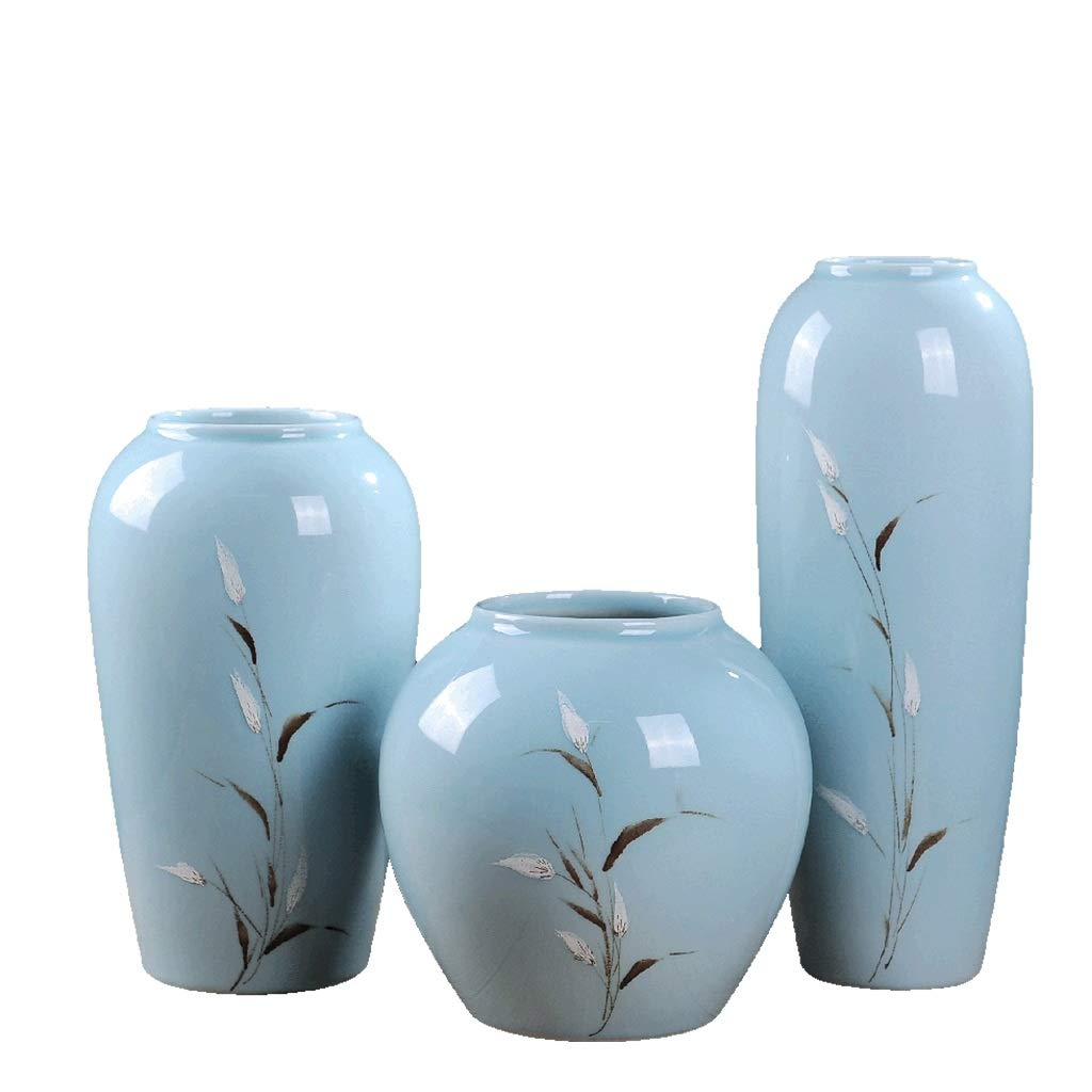 花瓶乾燥フラワーセラミック装飾品リビングルームフラワーアレンジメント中国現代ミニマリストクリエイティブ家の装飾磁器 LQX (Size : SML) B07RJ4MTN7  SML