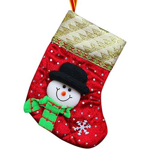 Christmas gifts Candy Beads Christmas Santa Claus Snowman Socks Decorations beautiful HunYUN -